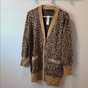 JCrew leopard sweater
